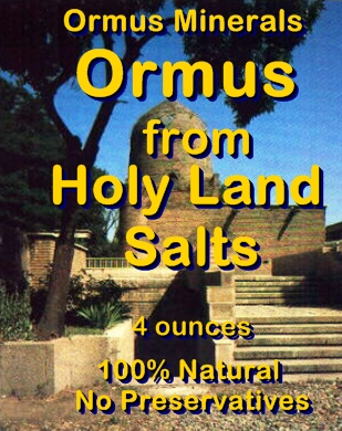 Ormus Minerals Ormus from Holy Land Salts